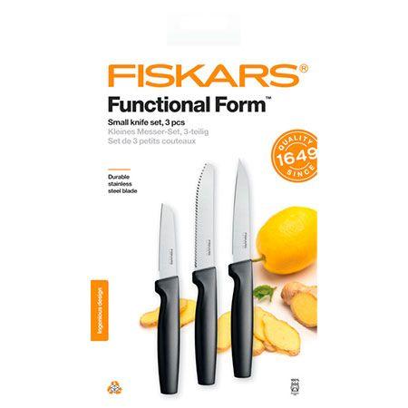 Набор ножей для чистки продуктов Fiskars Functional Form Small Knife Set (1057561)