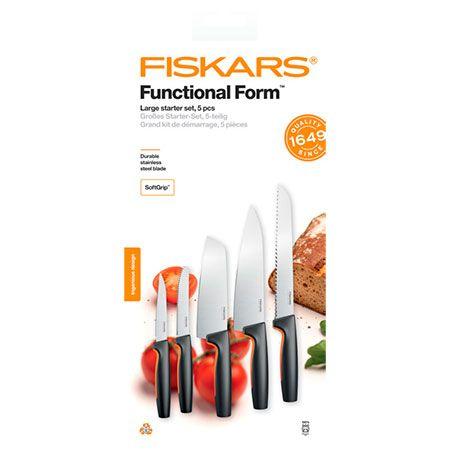 Набор кухонных ножей 5 шт. Fiskars Functional Form Starter Set (1057558)