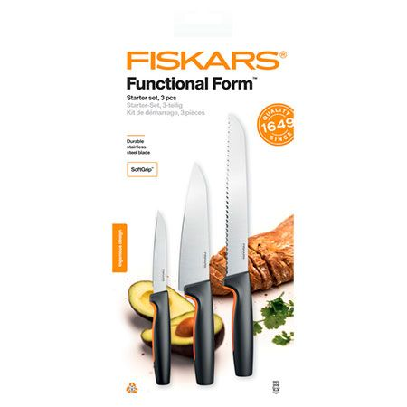 Набор кухонных ножей Fiskars Functional Form Starter Set (1057559)