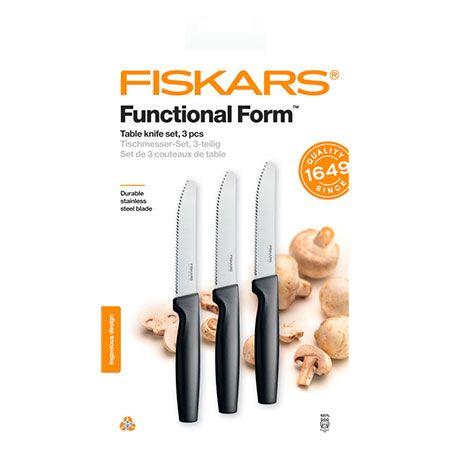Набор столовых зубчатых ножей Fiskars Functional Form Table Knife Set (1057562)
