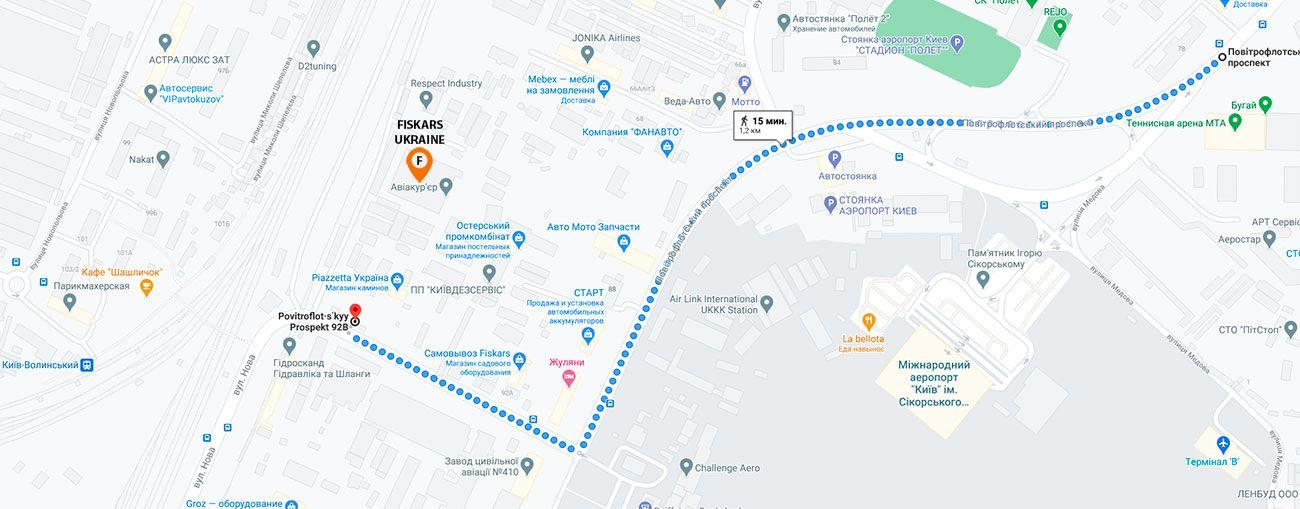 Fiskars Ukraine - Карта проезда к магазину